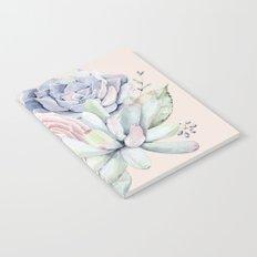 Pretty Pink Succulents Garden Notebook