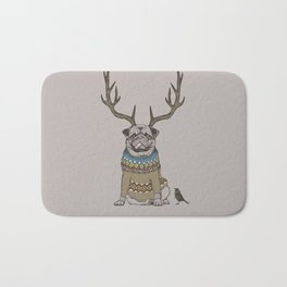 Deer Pug Bath Mat