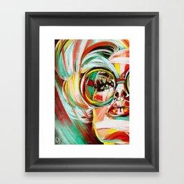 """Glowing 5"" Framed Art Print"