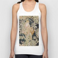 mucha Tank Tops featuring 1898 - 1900 Femme a Marguerite by Alphonse Mucha by BookCollecting101