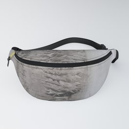 Gray Peace Vertical Fanny Pack