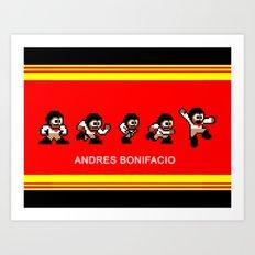 8-bit Andres 5 pose v2 Art Print
