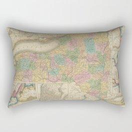 Vintage Map of New York (1835) Rectangular Pillow