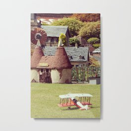 Old French Model Village Metal Print