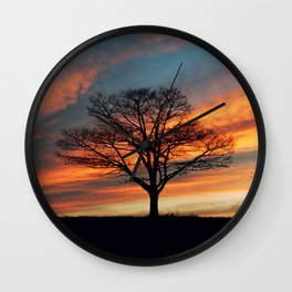 Branching Silhouette Wall Clock