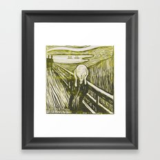 The Scream's Haze (yellow) Framed Art Print