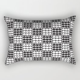 Hob Nob Black White Quarters Rectangular Pillow
