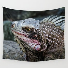 Portrait of an Iguana Wall Tapestry