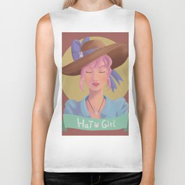 Hat Girl - Candy Color Biker Tank