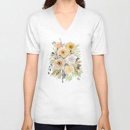 Floral 8 Unisex V-Neck