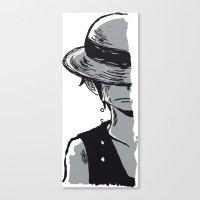 luffy Canvas Prints featuring Sad Luffy by cici22