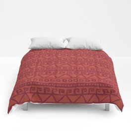 Aztec hand-drawn pattern Comforters