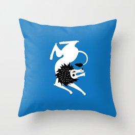 Dancing Beasts: Lion Throw Pillow
