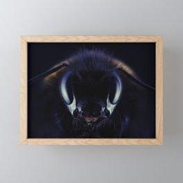 Close-up Bee Framed Mini Art Print