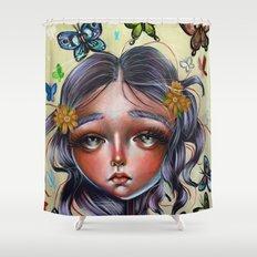 Chrysalis and Butterflies  Shower Curtain