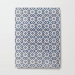 Blue Portugal Tiles #3 Metal Print