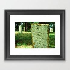 In memory of Mr. Noah Sears Framed Art Print