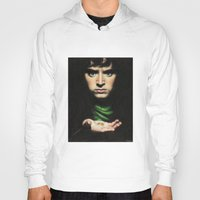 lord of the rings Hoodies featuring Frodo - Lord of the Rings by Hilary Rodzik