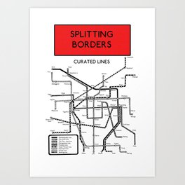 Splitting Borders Curated Lines Art Print