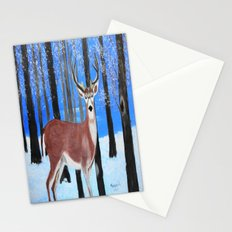 Buck by the trees Stationery Cards