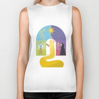 rapunzel Biker Tanks featuring Rapunzel by Rob Yeo Design
