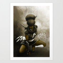 Blind Samurai 2 Art Print