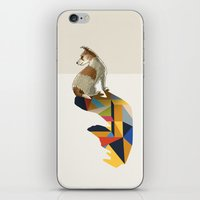 jack russell iPhone & iPod Skins featuring Walking Shadow, Jack Russell by Jason Ratliff