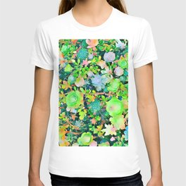 The Desert Works Constantly To Forbid It, But The Cactus Blooms Anyway #painting T-shirt