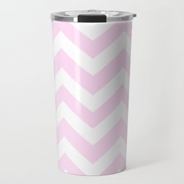 Pink lace - pink color - Zigzag Chevron Pattern Travel Mug