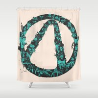 borderlands Shower Curtains featuring Borderlands 2 by Bill Pyle