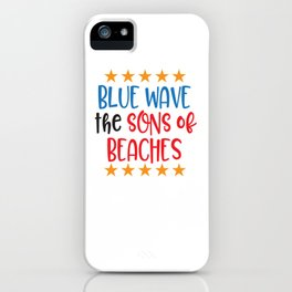 Blue Wave the Sons of Beaches iPhone Case