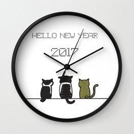 hello new year 2017! Wall Clock