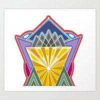 crown Art Prints featuring Crown by Losal Jsk