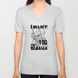I want YOU for Valhalla! Unisex V-Neck