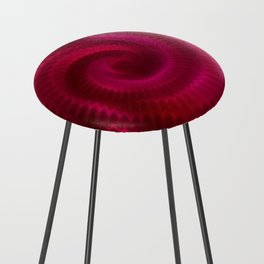 Red Power Wave Counter Stool