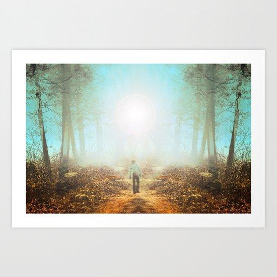 Finding Art Print