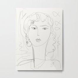 Sketch of a pop girl Metal Print