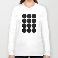 large Long Sleeve T-shirts featuring Large Circles by Emily Kenney