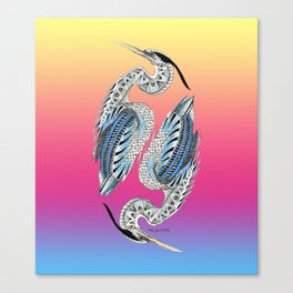 Great Blue Heron Pattern Canvas Print