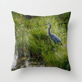 June Heron Throw Pillow