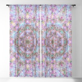 Astrid - Psychedelic Kaleidoscopic Design Sheer Curtain