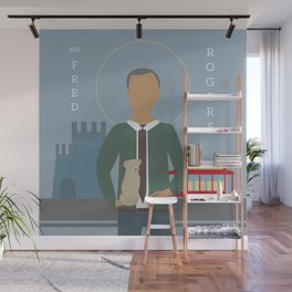Mr. Rogers Icon Wall Mural