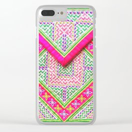 Hmong cloth Clear iPhone Case