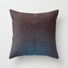 Halftone Blue Star Throw Pillow