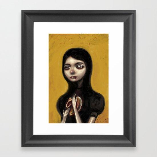 A Hunger That Will Not Go Away Framed Art Print