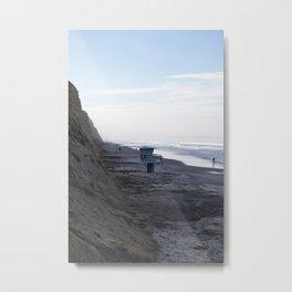 Lifeguard Stand on Beach Metal Print
