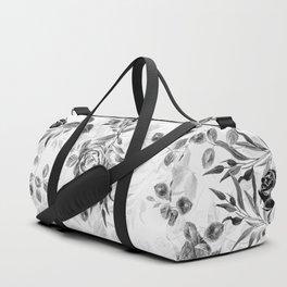Classic Minimal Floral Watercolor Rose Pattern Duffle Bag