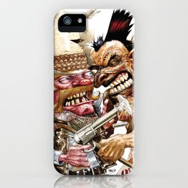 cowboy and native american iPhone Case