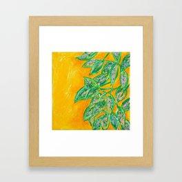 Polka Dot Plant Framed Art Print