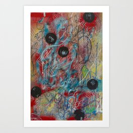 Primary Design Art Print